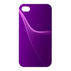 Purple Line Apple Iphone 4/4s Hardshell Case by Alisyart
