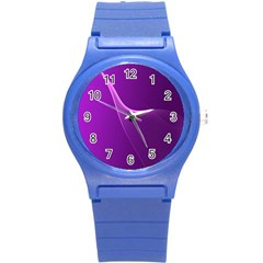 Purple Line Round Plastic Sport Watch (s) by Alisyart