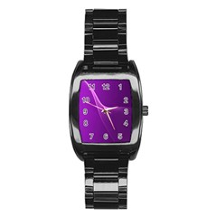 Purple Line Stainless Steel Barrel Watch by Alisyart