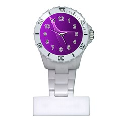 Purple Line Plastic Nurses Watch by Alisyart