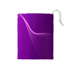 Purple Line Drawstring Pouches (medium)  by Alisyart