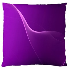 Purple Line Large Flano Cushion Case (two Sides) by Alisyart