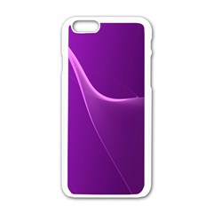 Purple Line Apple Iphone 6/6s White Enamel Case by Alisyart