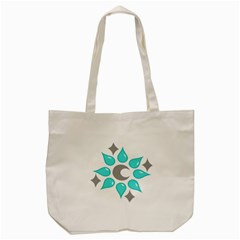 Moon Water Star Grey Blue Tote Bag (cream) by Alisyart