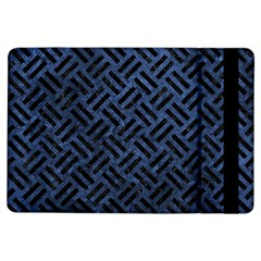 Woven2 Black Marble & Blue Stone (r) Apple Ipad Air Flip Case by trendistuff