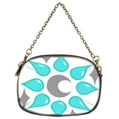 Moon Water Star Grey Blue Chain Purses (one Side)  by Alisyart