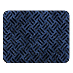 Woven2 Black Marble & Blue Stone (r) Double Sided Flano Blanket (large) by trendistuff