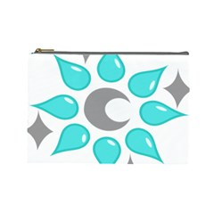Moon Water Star Grey Blue Cosmetic Bag (large)  by Alisyart