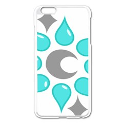 Moon Water Star Grey Blue Apple Iphone 6 Plus/6s Plus Enamel White Case by Alisyart