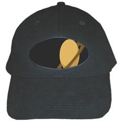 Saturn Ring Planet Space Orange Black Cap by Alisyart