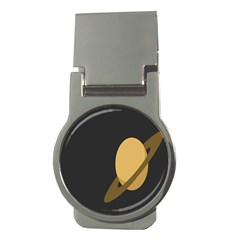 Saturn Ring Planet Space Orange Money Clips (round)  by Alisyart