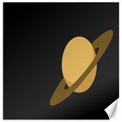 Saturn Ring Planet Space Orange Canvas 20  X 20   by Alisyart