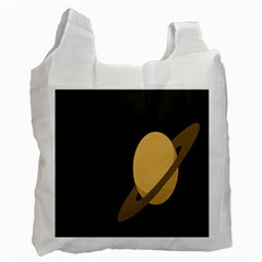 Saturn Ring Planet Space Orange Recycle Bag (one Side) by Alisyart
