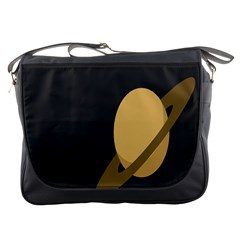 Saturn Ring Planet Space Orange Messenger Bags by Alisyart
