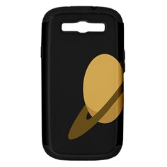 Saturn Ring Planet Space Orange Samsung Galaxy S Iii Hardshell Case (pc+silicone) by Alisyart