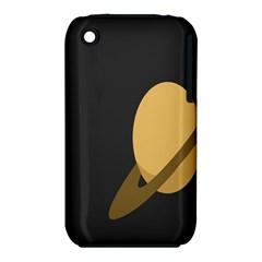 Saturn Ring Planet Space Orange Iphone 3s/3gs by Alisyart