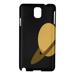 Saturn Ring Planet Space Orange Samsung Galaxy Note 3 N9005 Hardshell Case by Alisyart