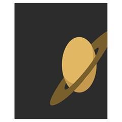 Saturn Ring Planet Space Orange Drawstring Bag (small) by Alisyart