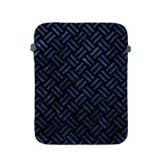 Woven2 Black Marble & Blue Stone Apple Ipad 2/3/4 Protective Soft Case by trendistuff