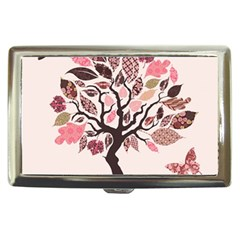 Tree Butterfly Insect Leaf Pink Cigarette Money Cases by Alisyart