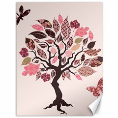 Tree Butterfly Insect Leaf Pink Canvas 36  X 48   by Alisyart