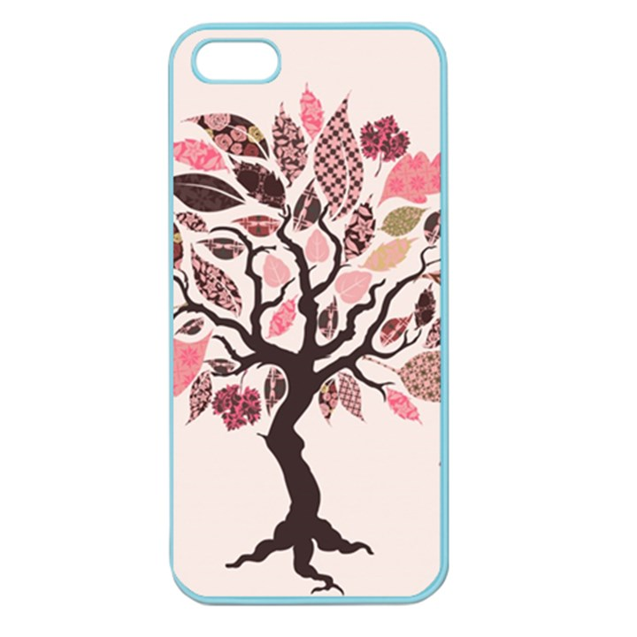 Tree Butterfly Insect Leaf Pink Apple Seamless iPhone 5 Case (Color)