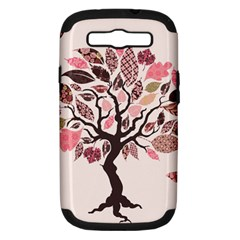 Tree Butterfly Insect Leaf Pink Samsung Galaxy S Iii Hardshell Case (pc+silicone) by Alisyart