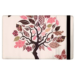 Tree Butterfly Insect Leaf Pink Apple Ipad 3/4 Flip Case by Alisyart