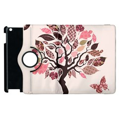 Tree Butterfly Insect Leaf Pink Apple Ipad 2 Flip 360 Case