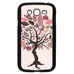 Tree Butterfly Insect Leaf Pink Samsung Galaxy Grand Duos I9082 Case (black)