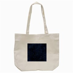 Woven1 Black Marble & Blue Stone (r) Tote Bag (cream) by trendistuff