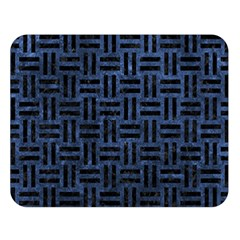 Woven1 Black Marble & Blue Stone (r) Double Sided Flano Blanket (large) by trendistuff