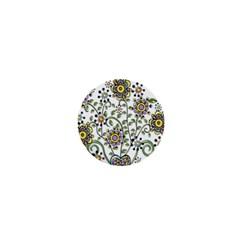 Frame Flower Floral Sun Purple Yellow Green 1  Mini Magnets by Alisyart