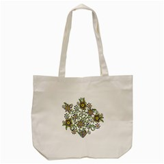 Frame Flower Floral Sun Purple Yellow Green Tote Bag (cream) by Alisyart