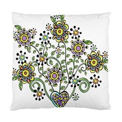 Frame Flower Floral Sun Purple Yellow Green Standard Cushion Case (one Side) by Alisyart