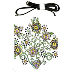 Frame Flower Floral Sun Purple Yellow Green Shoulder Sling Bags by Alisyart