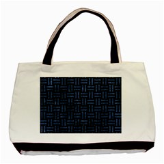 Woven1 Black Marble & Blue Stone Basic Tote Bag by trendistuff