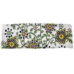 Frame Flower Floral Sun Purple Yellow Green Body Pillow Case Dakimakura (two Sides) by Alisyart