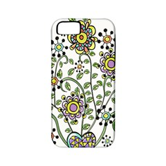 Frame Flower Floral Sun Purple Yellow Green Apple Iphone 5 Classic Hardshell Case (pc+silicone) by Alisyart