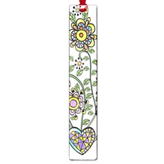 Frame Flower Floral Sun Purple Yellow Green Large Book Marks by Alisyart