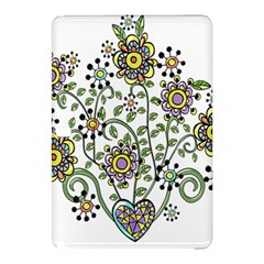 Frame Flower Floral Sun Purple Yellow Green Samsung Galaxy Tab Pro 12 2 Hardshell Case