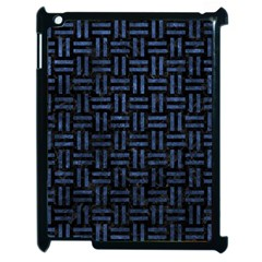 Woven1 Black Marble & Blue Stone Apple Ipad 2 Case (black) by trendistuff
