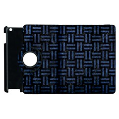 Woven1 Black Marble & Blue Stone Apple Ipad 3/4 Flip 360 Case by trendistuff