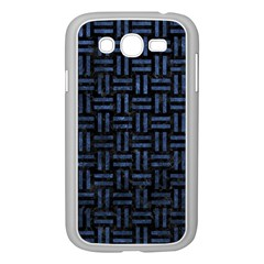 Woven1 Black Marble & Blue Stone Samsung Galaxy Grand Duos I9082 Case (white) by trendistuff