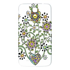 Frame Flower Floral Sun Purple Yellow Green Samsung Galaxy Mega I9200 Hardshell Back Case