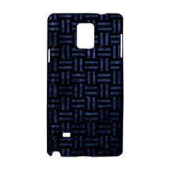 Woven1 Black Marble & Blue Stone Samsung Galaxy Note 4 Hardshell Case by trendistuff