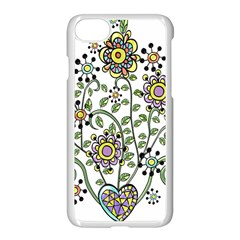 Frame Flower Floral Sun Purple Yellow Green Apple Iphone 7 Seamless Case (white) by Alisyart