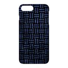 Woven1 Black Marble & Blue Stone Apple Iphone 7 Plus Hardshell Case by trendistuff