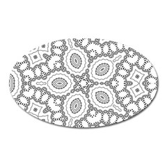 Scope Random Black White Oval Magnet by Alisyart