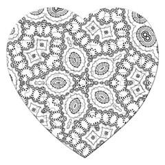 Scope Random Black White Jigsaw Puzzle (heart) by Alisyart
